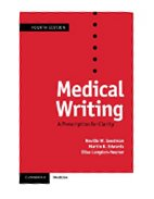 Image of the book cover for 'MEDICAL WRITING: A PRESCRIPTION FOR CLARITY'