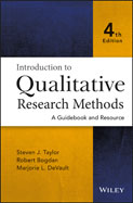 Image of the book cover for 'Introduction to Qualitative Research Methods'