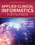 Image of the book cover for 'Applied Clinical Informatics for Nurses'