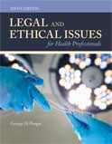 Image of the book cover for 'Legal and Ethical Issues for Health Professionals'