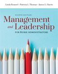 Image of the book cover for 'Management and Leadership for Nurse Administrators'