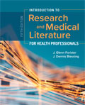 Image of the book cover for 'Introduction to Research and Medical Literature for Health Professionals'