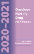 Image of the book cover for '2020-2021 Oncology Nursing Drug Handbook'