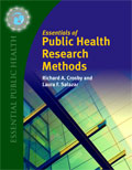 Image of the book cover for 'Essentials of Public Health Research Methods'