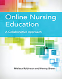 Image of the book cover for 'Online Nursing Education'