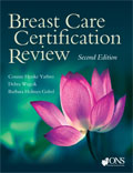 Image of the book cover for 'Breast Care Certification Review'