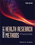 Image of the book cover for 'Introduction to Health Research Methods'