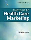 Image of the book cover for 'Essentials of Health Care Marketing'