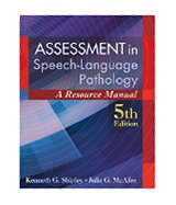 Image of the book cover for 'Assessment in Speech-Language Pathology'