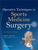 Image of the book cover for 'Operative Techniques in Sports Medicine Surgery'