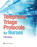 Image of the book cover for 'Telephone Triage Protocols for Nurses'