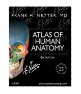 Image of the book cover for 'Atlas of Human Anatomy'