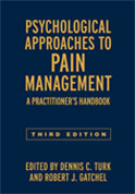 Image of the book cover for 'Psychological Approaches to Pain Management'