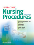 Image of the book cover for 'Lippincott Nursing Procedures'
