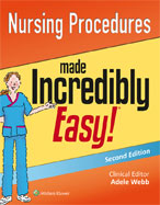 Image of the book cover for 'Nursing Procedures Made Incredibly Easy!'