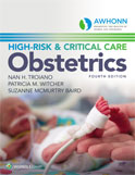Image of the book cover for 'AWHONN's High-Risk & Critical Care Obstetrics'