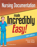 Image of the book cover for 'Nursing Documentation Made Incredibly Easy!'