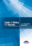 Image of the book cover for 'Code of Ethics for Nurses with Interpretive Statements'