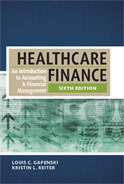 Image of the book cover for 'Healthcare Finance'