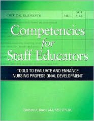 Image of the book cover for 'Competencies for Staff Educators'