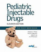 Image of the book cover for 'Pediatric Injectable Drugs (The Teddy Bear Book)'