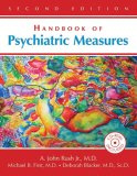 Image of the book cover for 'Handbook of Psychiatric Measures'