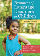 Image of the book cover for 'Treatment of Language Disorders in Children'