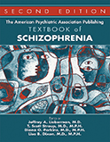 Image of the book cover for 'The American Psychiatric Association Publishing Textbook of Schizophrenia'