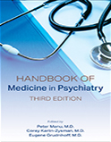 Image of the book cover for 'Handbook of Medicine in Psychiatry'