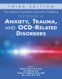 Image of the book cover for 'The American Psychiatric Association Publishing Textbook of Anxiety, Trauma, and OCD-Related Disorders'