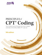 Image of the book cover for 'Principles of CPT Coding'