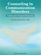 Image of the book cover for 'Counseling in Communication Disorders'