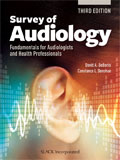 Image of the book cover for 'Survey of Audiology'