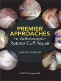 Image of the book cover for 'Premier Approaches to Arthroscopic Rotator Cuff Repair'