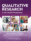 Image of the book cover for 'Qualitative Research in the Health Professions'