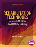Image of the book cover for 'Rehabilitation Techniques for Sports Medicine and Athletic Training'