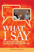 Image of the book cover for 'What I Say'