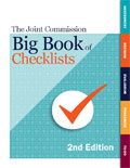 Image of the book cover for 'The Joint Commission Big Book of Checklists'