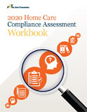 Image of the book cover for '2020 Home Care Compliance Assessment Workbook'