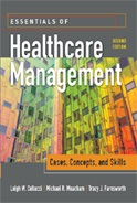Image of the book cover for 'Essentials of Healthcare Management: Cases, Concepts, and Skills'