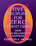 Image of the book cover for 'Five Disciplines for Zero Patient Harm'
