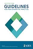 Image of the book cover for 'GUIDELINES FOR PERIOPERATIVE PRACTICE 2015'