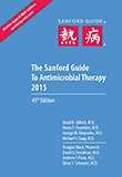 Image of the book cover for 'THE SANFORD GUIDE TO ANTIMICROBIAL THERAPY 2015'