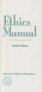 Image of the book cover for 'Ethics Manual'