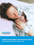 Image of the book cover for 'Analgesia and Anesthesia in the Intrapartum Period'
