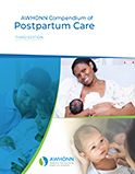 Image of the book cover for 'AWHONN Compendium of Postpartum Care'