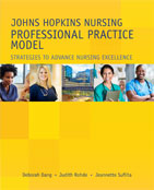 Image of the book cover for 'Johns Hopkins Nursing Professional Practice Model'