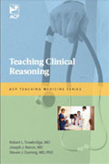 Image of the book cover for 'Teaching Clinical Reasoning'