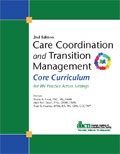 Image of the book cover for 'Care Coordination and Transition Management Core Curriculum'