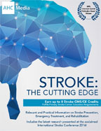 Image of the book cover for 'Stroke: The Cutting Edge'